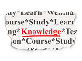 Education concept: Knowledge on Paper background — Stock Photo