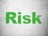 Finance concept: Risk on wall background — ストック写真