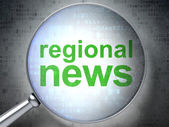 News concept: Regional News with optical glass — Stock Photo