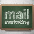 Advertising concept: Mail Marketing on chalkboard background — Stock Photo #35740195