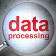 Data concept: Data Processing with optical glass — Stock Photo