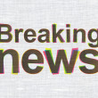 Stock Photo: News concept: Breaking News on fabric texture background