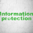 Safety concept: Information Protection on wall background — Stock Photo