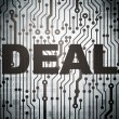 Stock Photo: Finance concept: circuit board with Deal