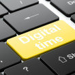 Stock Photo: Timeline concept: Digital Time on computer keyboard background