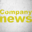 News concept: Company News on wall background — Stock Photo