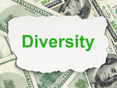 Finance concept: Diversity on Money background — Stock Photo