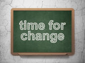 Time concept: Time for Change on chalkboard background — Stock Photo