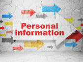 Privacy concept: arrow whis Personal Information on grunge wall background — Stock Photo