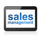 Marketing concept: Sales Management on tablet pc computer — 图库照片