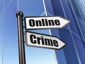 Protection concept: sign Online Crime on Building background — Stock Photo