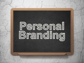 Advertising concept: Personal Branding on chalkboard background — Stock Photo