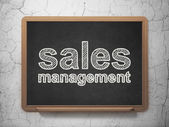 Marketing concept: Sales Management on chalkboard background — ストック写真