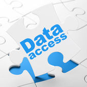 Data concept: Data Access on puzzle background — Stock Photo