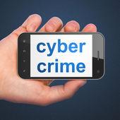 Safety concept: Cyber Crime on smartphone — ストック写真