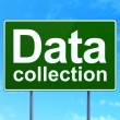 Stock Photo: Data concept: Data Collection on road sign background