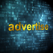 Advertising concept: Advertise on digital background — Stock Photo #35876237