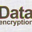 Stock Photo: Safety concept: DatEncryption on fabric texture background