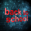 Education concept: Back to School on digital background — Stock Photo #35876889