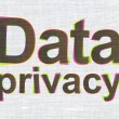 Stock Photo: Safety concept: DatPrivacy on fabric texture background