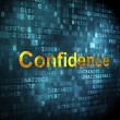 Finance concept: Confidence on digital background — Stock Photo