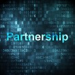 Finance concept: Partnership on digital background — Stockfoto