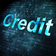 Business concept: Credit on digital background — Stock fotografie