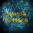 Stock Photo: Business concept: Business Processes on digital background