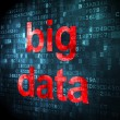Data concept: Big Data on digital background — Stock Photo