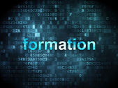 Education concept: Formation on digital background — Stock Photo