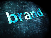 Marketing concept: Brand on digital background — Stock Photo