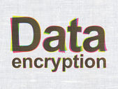 Safety concept: Data Encryption on fabric texture background — Stock Photo
