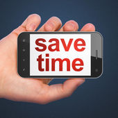 Timeline concept: Save Time on smartphone — Stock Photo