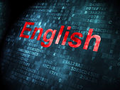Education concept: English on digital background — Stock Photo