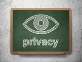 Privacy concept: Eye and Privacy on chalkboard background — Stock Photo