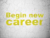 Notion de finance : commencer la nouvelle carrière sur fond de mur — Photo