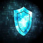 Protection concept: Shield on digital background — Stock Photo