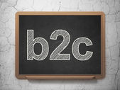 Business concept: B2c on chalkboard background — Stock Photo