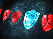Safety concept: Shield on digital background — Stock Photo