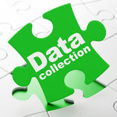 Information concept: Data Collection on puzzle background — Foto Stock