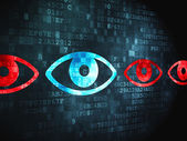 Security concept: Eye on digital background — Stock Photo