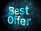Business concept: Best Offer on digital background — Stock Photo