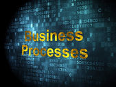 Business concept: Business Processes on digital background — Stock Photo