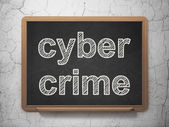 Safety concept: Cyber Crime on chalkboard background — Stock Photo