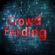 Finance concept: Crowd Funding on digital background — Stock Photo