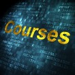 Education concept: Courses on digital background — Stock Photo