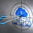 Cloud technology concept: arrows in Cloud Network target — Stock Photo