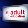 Stock Photo: Education concept: Adult Education and Head Finance Symbol