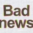 News concept: Bad News on fabric texture background — Stock Photo #35937839