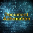 Finance concept: Document Automation on digital background — Stock Photo